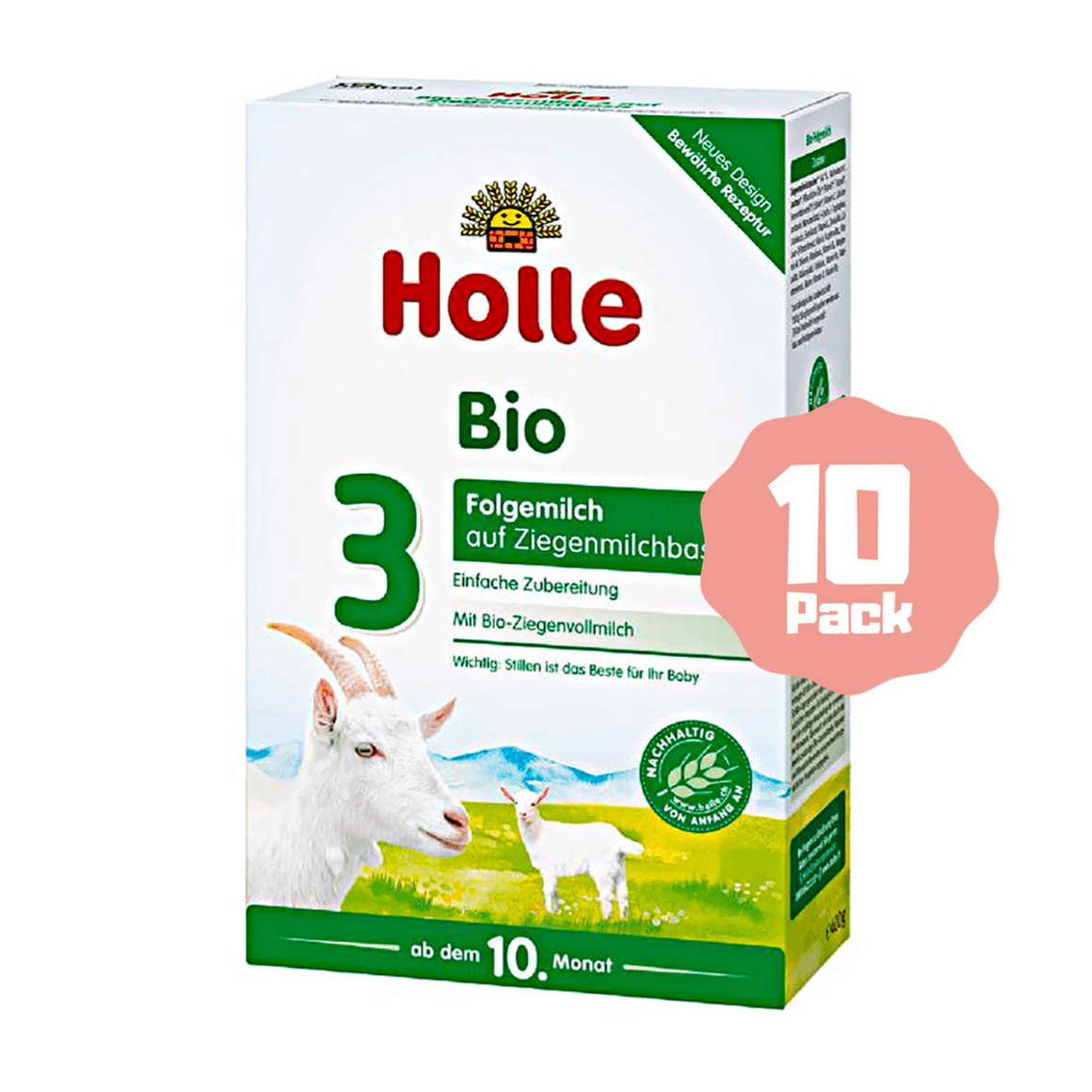 Holle Stage 3 Organic Baby Goat Milk Formula (10 Months+) (10 Pack)