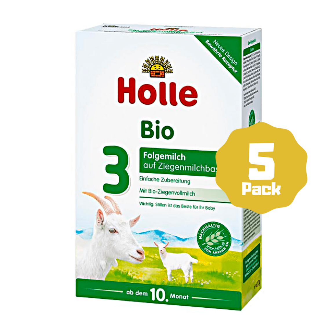 Holle Stage 3 Organic Baby Goat Milk Formula (10 Months+) (5 Pack)
