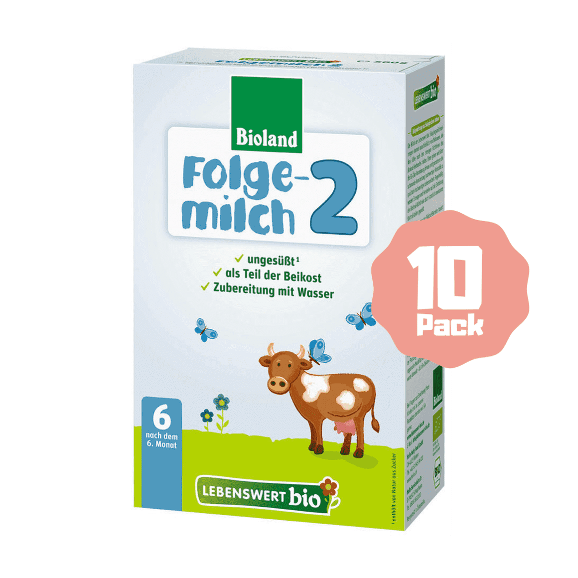 Lebenswert Bio Stage 2 Organic Follow-on Formula (6 Months+) (10 Pack)