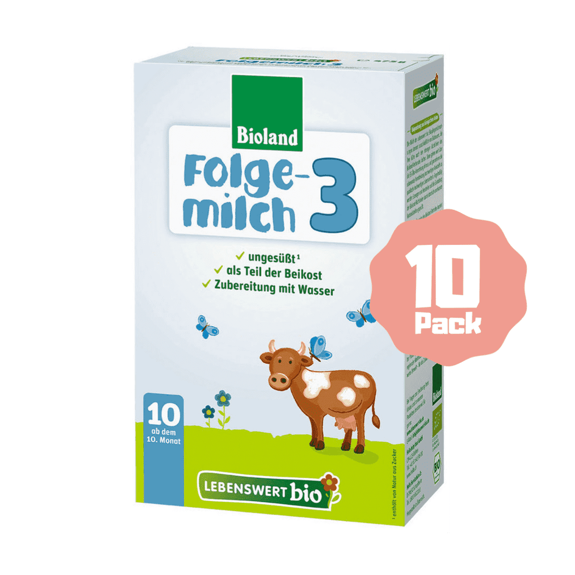 Lebenswert Bio Stage 3 Organic Follow-on Formula (10 Months+) (10 Pack)