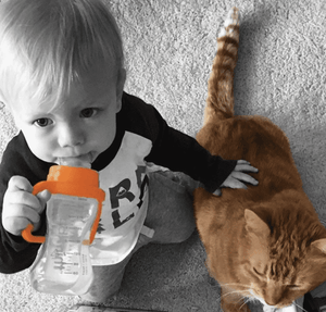 Thinkbaby Converts Baby Bottle to Sippy Cup (Orange)