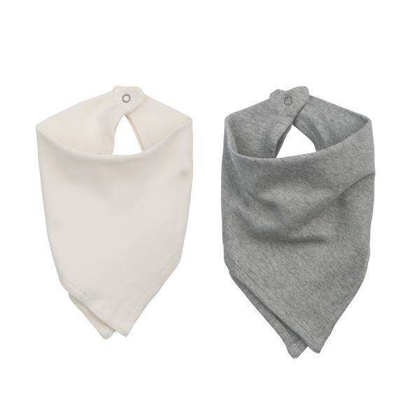 finn + emma 2 Pack Bandana Bibs - Neutral