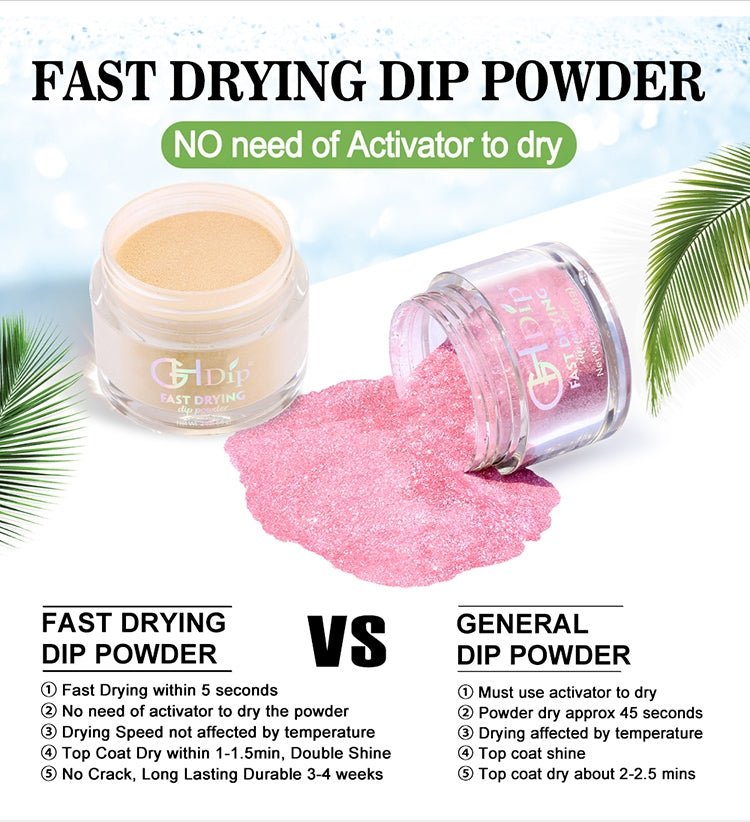 Fast drying dipping powder