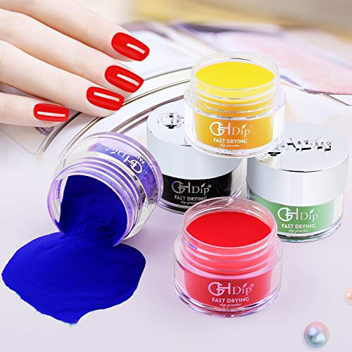 GH Dip Powder Colors Kit Acrylic Dipping Powder Starter Kit for Nail Art G6604