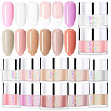 Dip Powder 12 Colors Kit for French Nail Manicure (Not Include Base,Top Coat and Activator) G6601