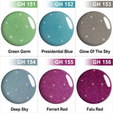 GHDip Dip Powder Nail Kit G6405(Shimmer Glitter Green Color)