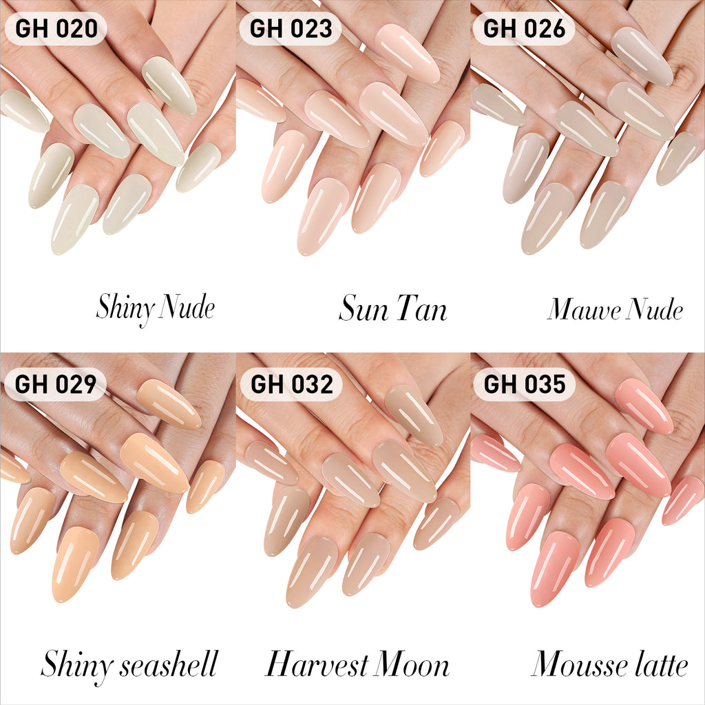 Dip Powder Nail Kit G642 (6 nude color)
