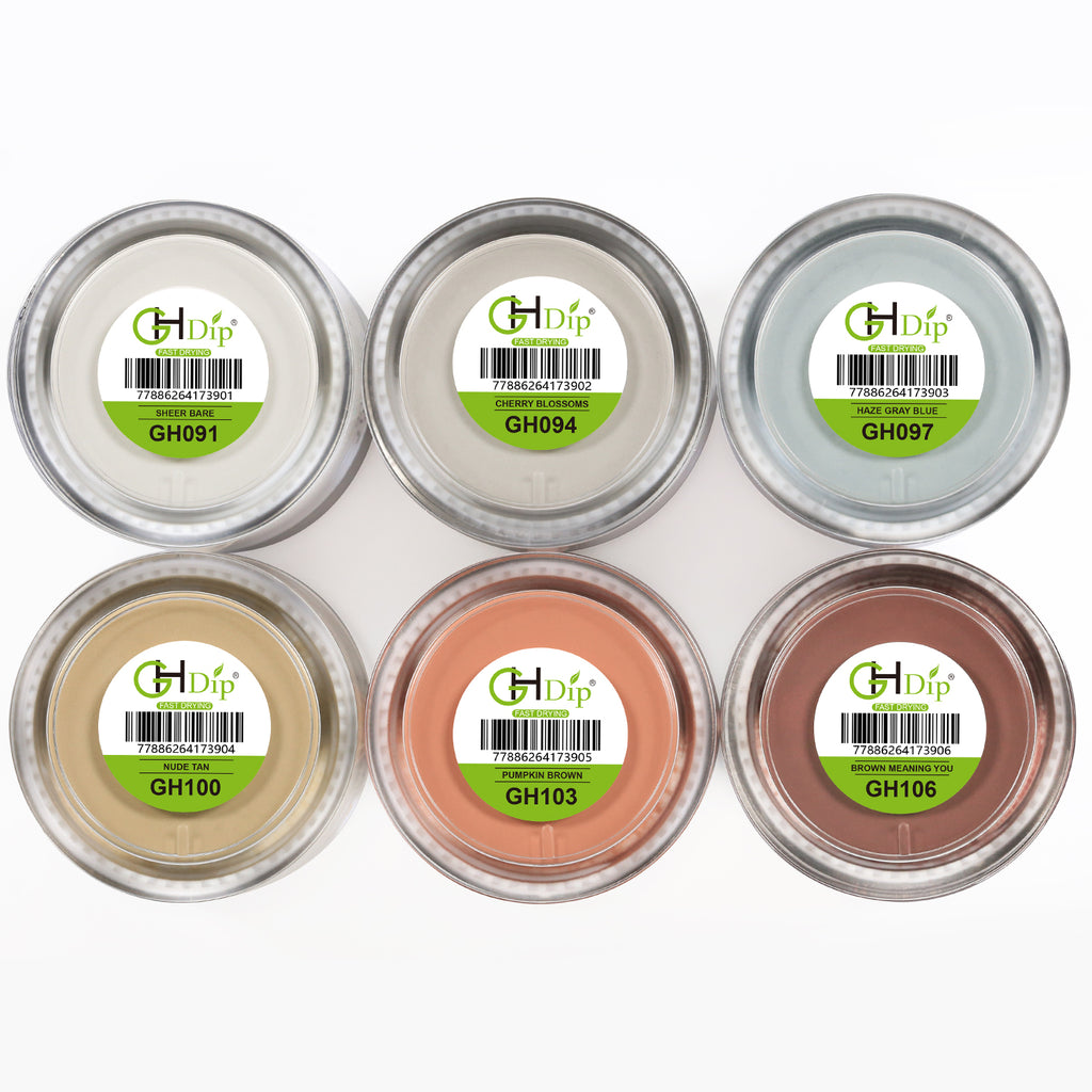 Grey&Brown Color Dip Powder Nail Kit G650 (6X0.6oz)