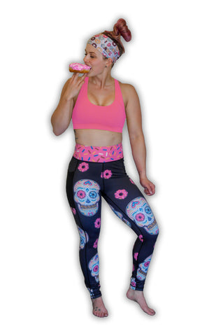 Dia De Los Donuts Pocket Leggings