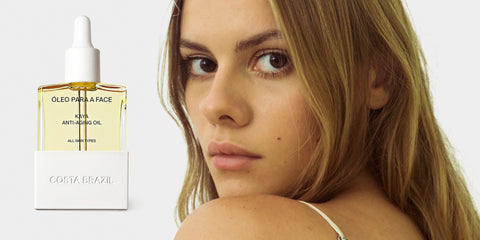 How to use face oil with makeup. Image of Tasmin Meyer Ersahin and Costa Brazil's Kaya Anti-Aging Face Oil.