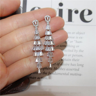 Elegant Sterling Silver Tassel Earrings
