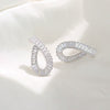 Elegant Teardrop Sterling Silver Stud Earrings
