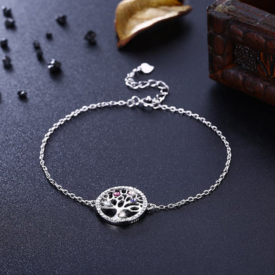 Family Tree Sterling Silver Bracelet