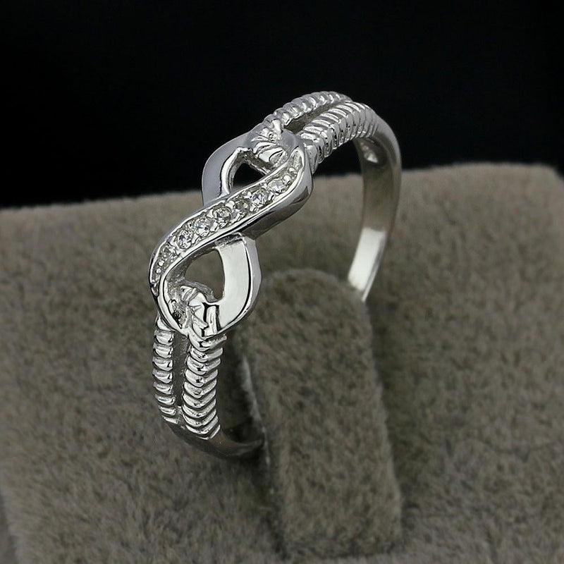 The Kayla Sterling Silver Infinity Ring