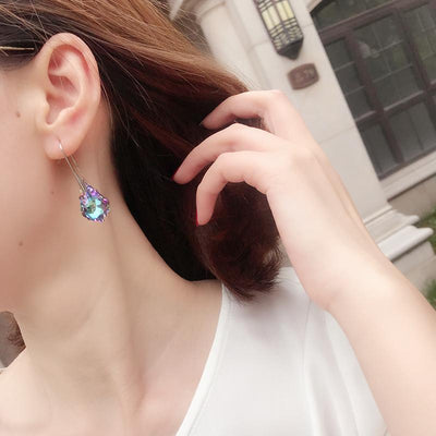 Rhombic Austrian Crystal Earrings