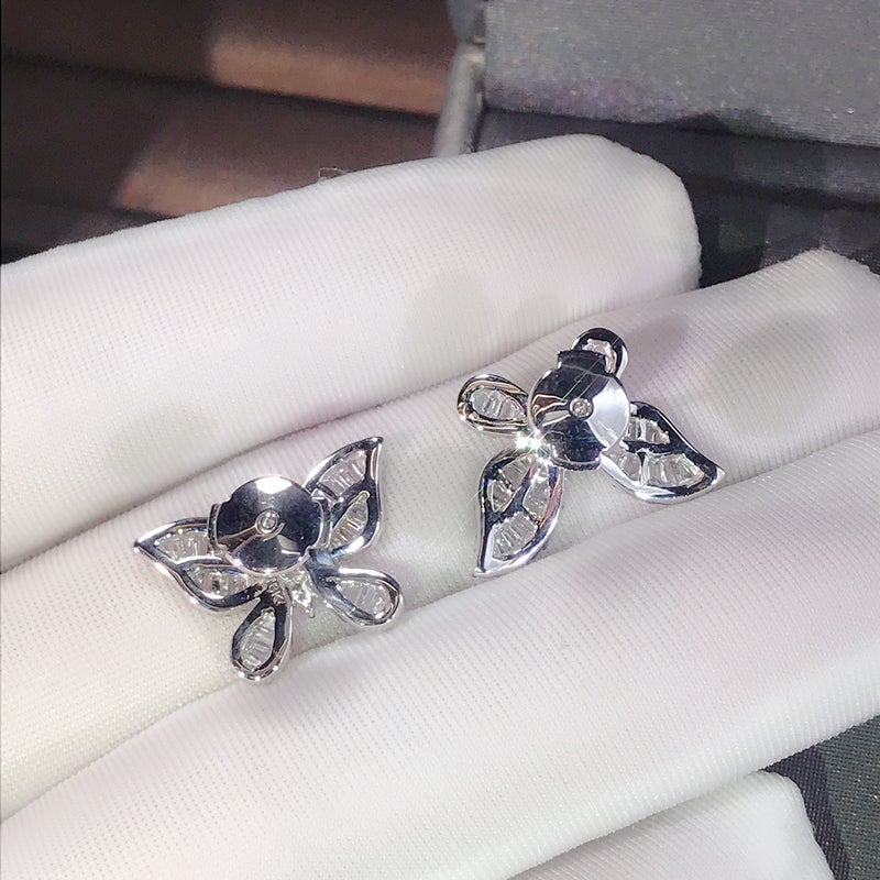 Butterfly Design Sterling Silver Stud Earrings