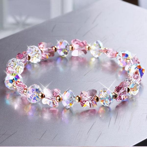Butterfly Colorful Beaded Bracelet