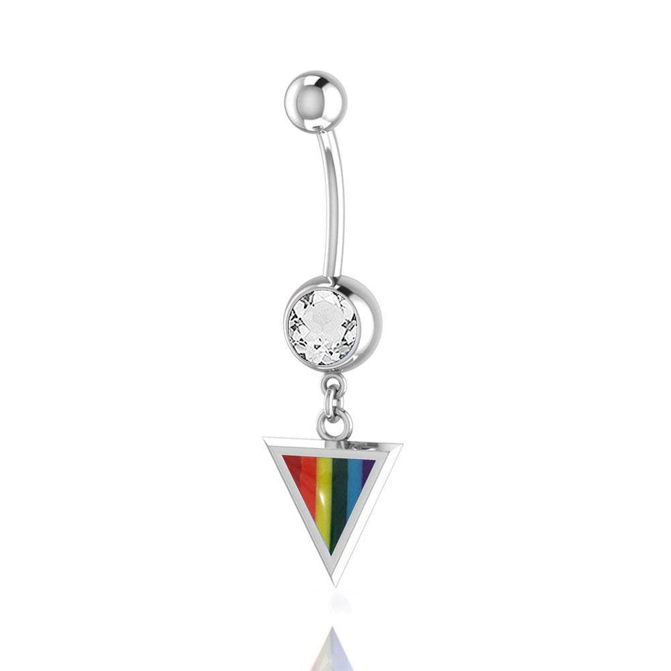 Rainbow Triangle belly button body jewelry BJ024