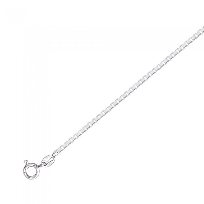 Large Box Silver Chain CH2246 peterstone.