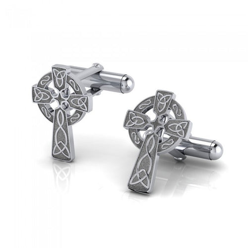 Undying Love of a Divine Celtic Cross Cufflinks CL043 peterstone.