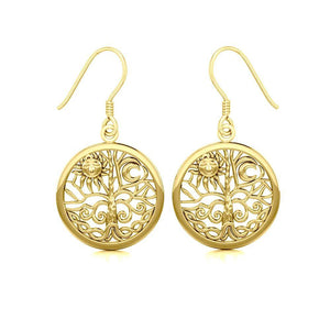 Celtic Tree of Life Solid Gold Earrings GER060 Earrings