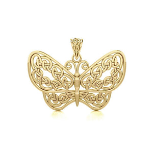 Celtic Butterfly Solid Gold Pendant GPD4119 Pendant