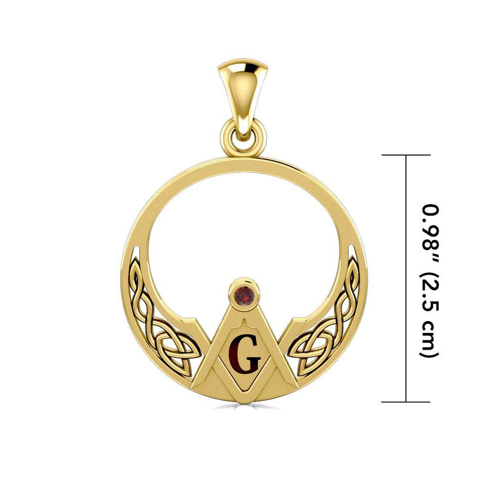 Unfold the Symbolism of the Celtic Mason Gold Pendant GPD5022 Pendant