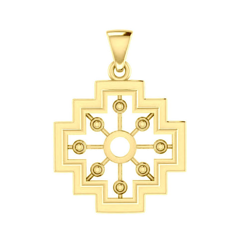 A symbol of the old cultures ~ Solid Gold Inka Cross Pendant GPD5148 peterstone.