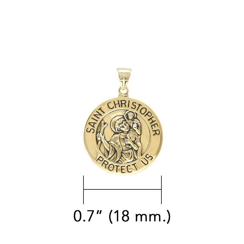 Saint Christoper Solid Gold Pendant (Small 18 mm.) GPD5464 Pendants