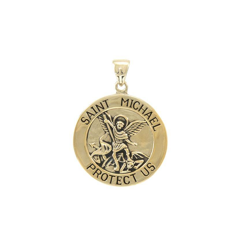 Saint Michael Solid Gold Pendant (Medium 22 mm.) GPD5468 Pendants