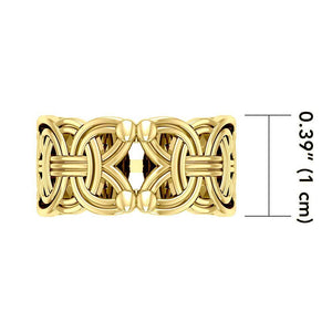 Viking Borre Knot Solid Gold Ring GRI573 Ring