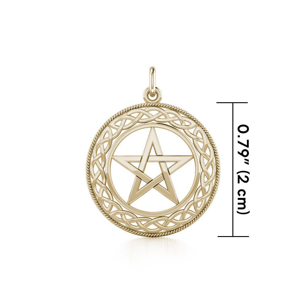 Star with Celtic Solid Gold Charm GTC122