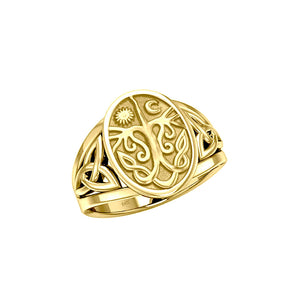 Tree of Life Solid Gold Ring GTR3688 Ring