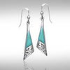 Silver Filigree Earrings with Gem Inlay JE198