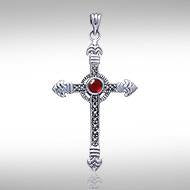 Medieval Cross Silver & Marcasite Pendant JP030 Choice of