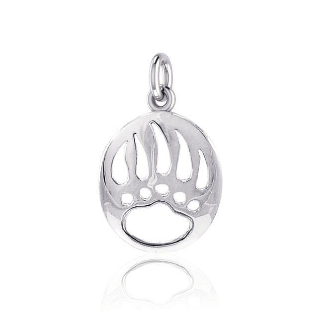 Bear Paw Silver Charm LP1271 peterstone.