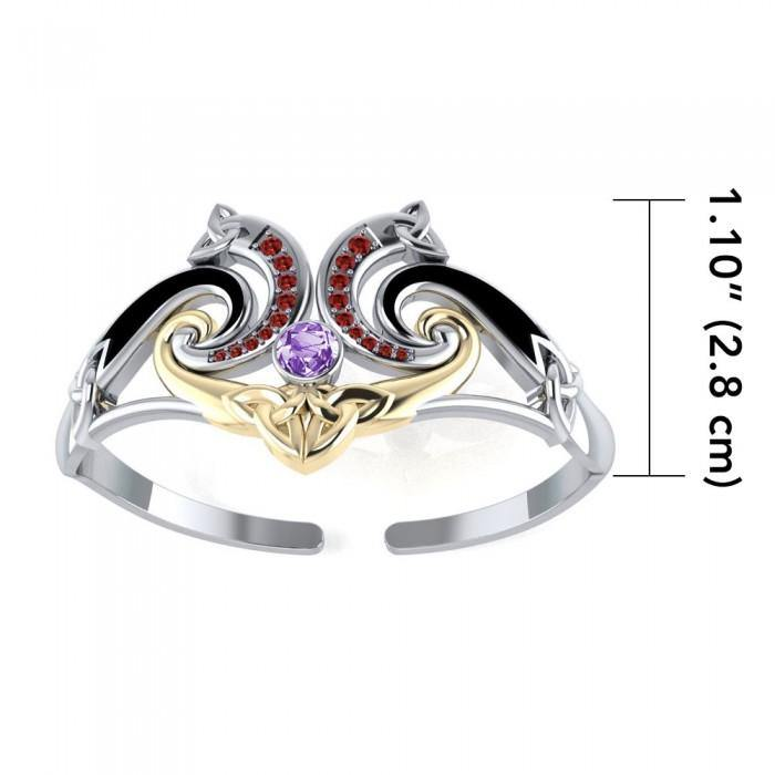 Modern Celtic Triskele Bangle MBA049