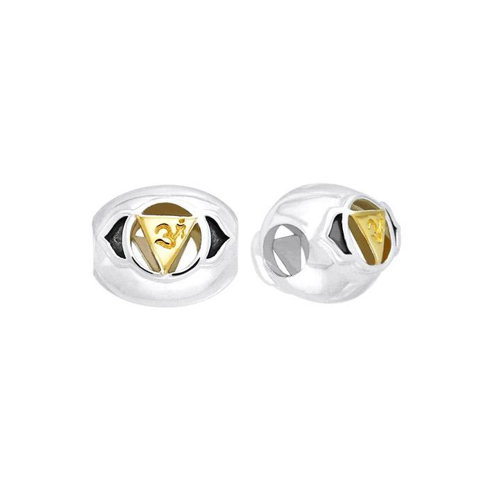 Ajna Brow Silver and Gold Chakra Bead MBD081