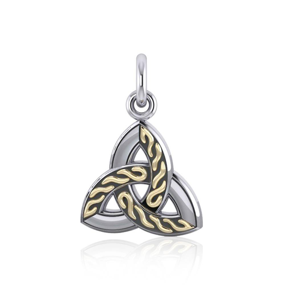 Celtic Trinity Silver & Gold Charm MCM179