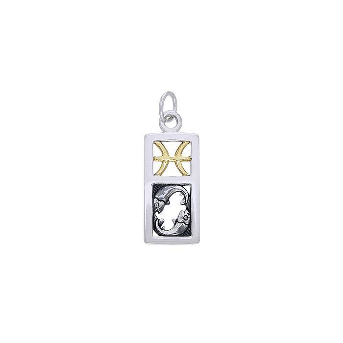 Pisces Silver and Gold Charm MCM294