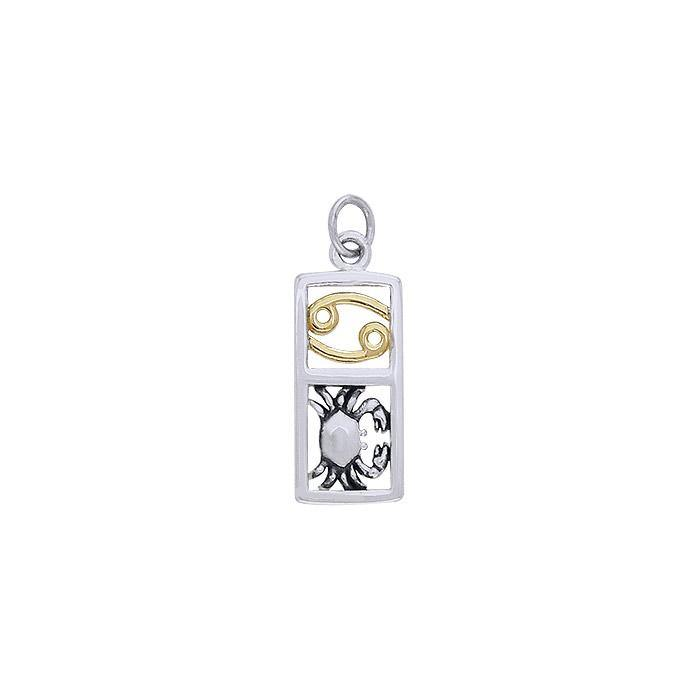 Cancer Silver and Gold Charm MCM298