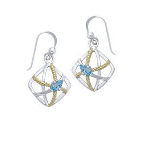 Contemporary Rope Design Earrings MER1254 peterstone.