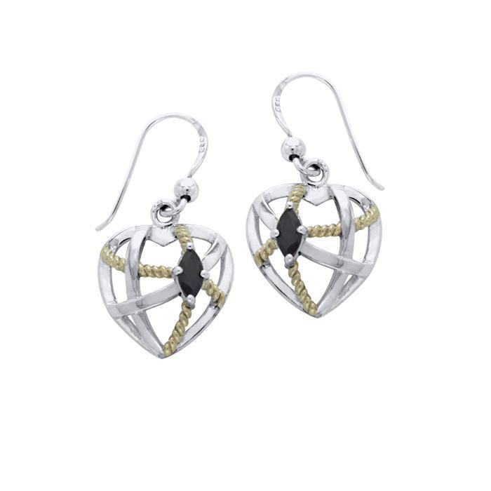 Contemporary with Rope Design Earrings