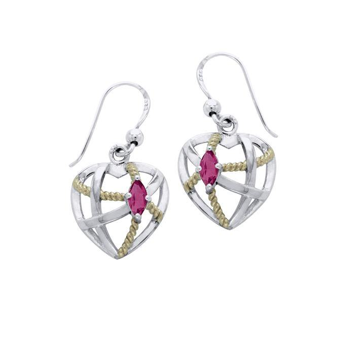Contemporary with Rope Design Earrings MER1256