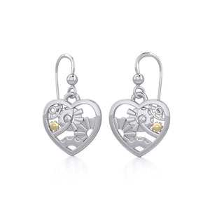 Pure Heart in Steampunk ~ fine Sterling Silver Jewelry in 14k Gold accent MER1354 peterstone.