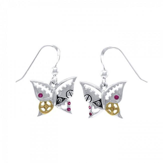 Butterfly Steampunk Earrings MER1370