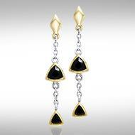 Blaque Hanging Triangles Earrings