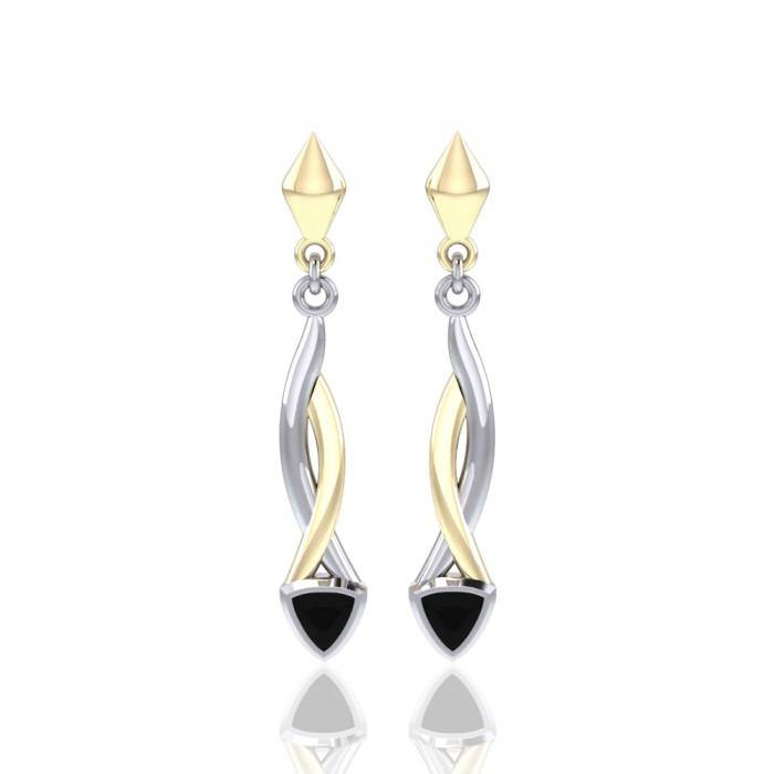 Blaque Triangle Twist Earrings MER400