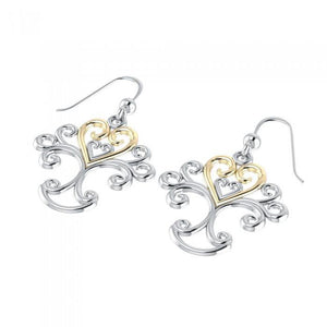 Tree Gold Accented Earring MER505