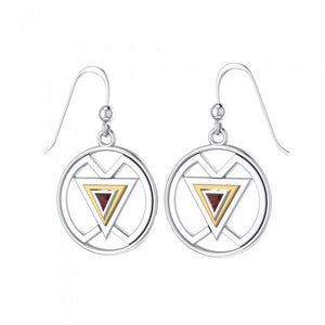 Femininity Symbol Silver and Gold Earrings MER528